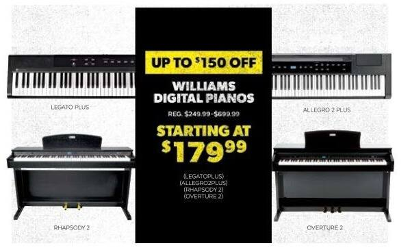 guitar center black friday williams rhapsody 2 88 key console digital piano for. Black Bedroom Furniture Sets. Home Design Ideas