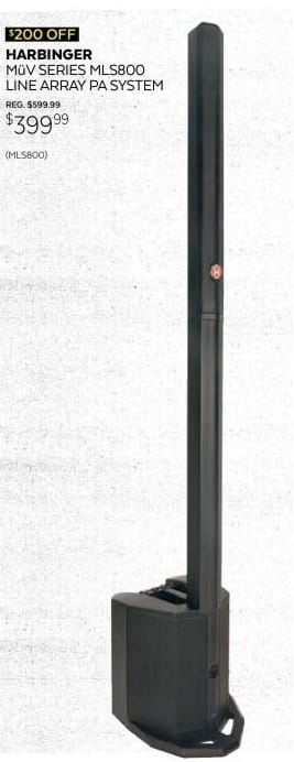 Guitar Center Black Friday: Harbinger MuV MLS800 Line Array PA System for $399.99
