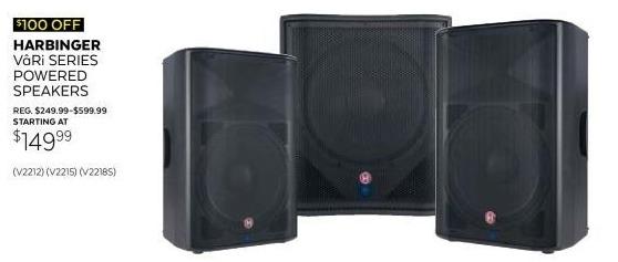 Guitar Center Black Friday: Harbinger Vari V2212 600W 12-Inch Two-Way Class D Loudspeaker for $149.99