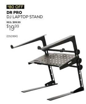 Guitar Center Black Friday: DR Pro DJ Laptop Stand and Shelf Bundle for $19.99