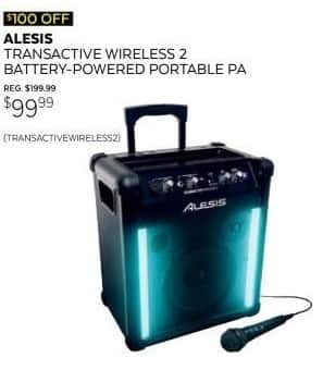 Guitar Center Black Friday: Alesis TransActive Wireless 2 Battery Powered Portable PA for $99.99