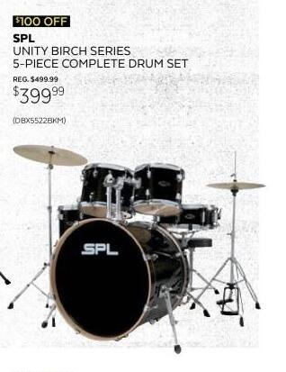 Guitar Center Black Friday: Sound Percussion Labs Unity BX Series 5-Piece Complete Drum Set for $399.99