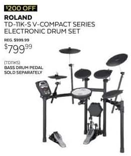 Guitar Center Black Friday: Roland TD-11K-S V-Compact Series Electronic V-Drum Kit for $799.99