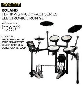 Guitar Center Black Friday: Roland TD-11KV-S V-Compact Series Electronic Drum Kit for $1,299.99