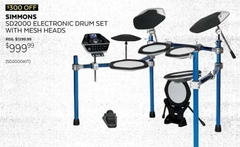 Guitar Center Black Friday: Simmons 5 Piece Electronic Kit w/Mesh Pads for $999.99