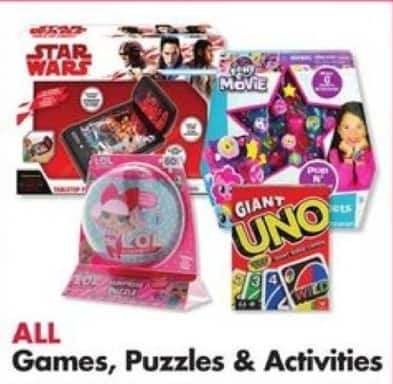 Big Lots Black Friday: Entire Stock: Games, Puzzles and Activities - B2G1 Free