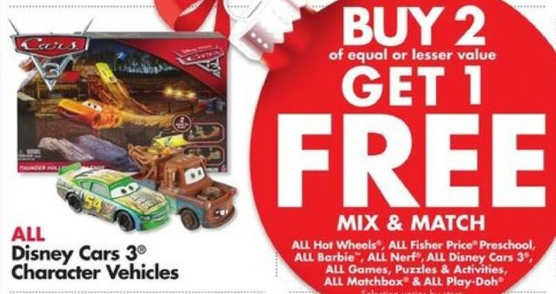 Big Lots Black Friday: Entire Stock Disney Cars 2 Character Vehicles - B2G1 Free