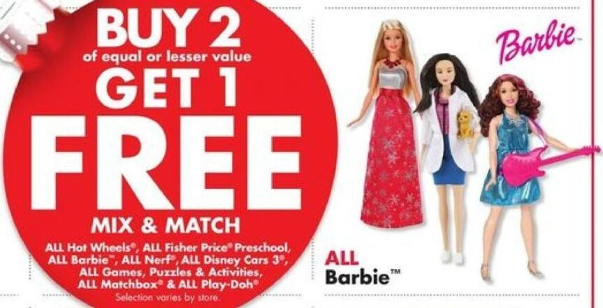 Big Lots Black Friday: Entire Stock Barbie - B2G1 Free