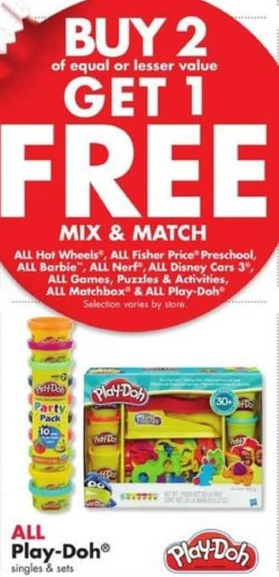 Big Lots Black Friday: Entire Stock Play-Doh Singles and Sets - B2G1 Free
