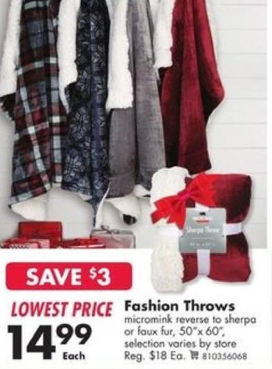 Big Lots Black Friday: Fashion Throws for $14.99