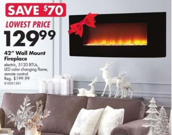 "Big Lots Black Friday: 42"" Wall Mount Fireplace for $129.99"