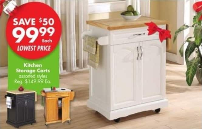 Big Lots Black Friday: Kitchen Storage Carts for $99.99