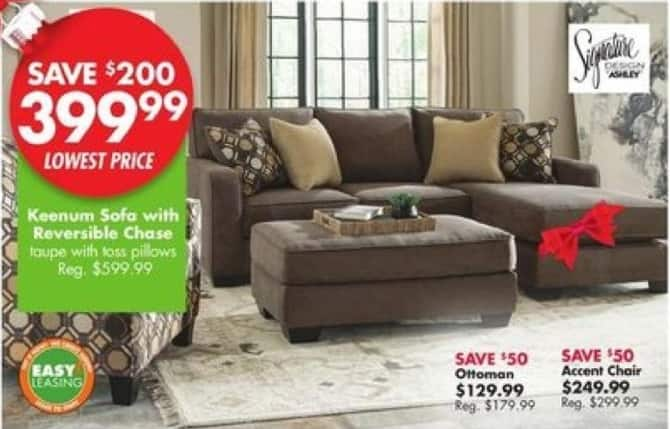 Big Lots Black Friday: Keenum Sofa w/Reversible Chase for $399.99
