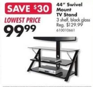 Big Lots Black Friday 44 Black Glass Tv Stand For 99 99