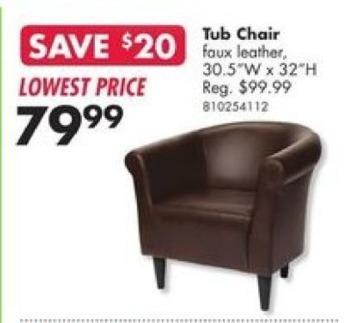 Big Lots Black Friday: Tub Chair for $79.99