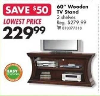 "Big Lots Black Friday: 60"" Curved 2-Shelf TV Stand for $229.99"