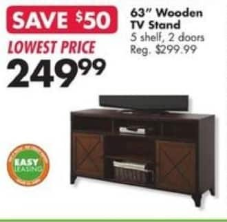 """Big Lots Black Friday: 63"""" Wooden TV Stand for $249.99"""