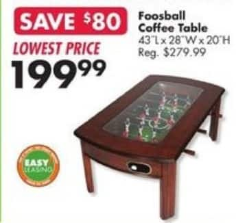 big lots coffee table Big Lots Black Friday: Foosball Coffee Table for $199.99  big lots coffee table