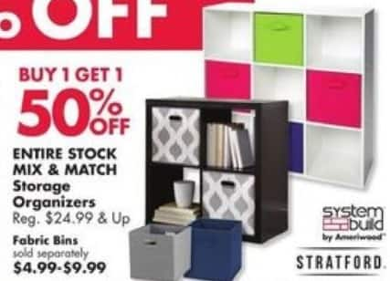 Big Lots Black Friday: Entire Stock Mix & Match Storage Organizers - B1G1 50% Off