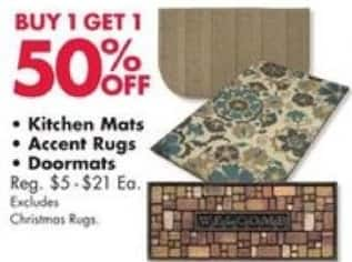 Big Lots Black Friday: Select Styles: Kitchen Mats, Accent Rugs and Doormats - B1G1 50% Off