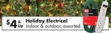 Big Lots Black Friday: Select Indoor or Outdoor Holiday Electrical for $4.00
