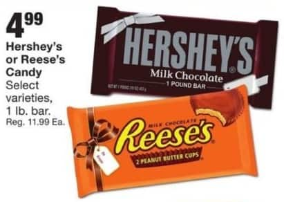Fred Meyer Black Friday: Select Varieties: 1-Pound Hershey's or Reese Candy for $4.99