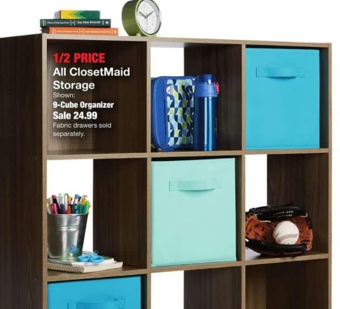 Fred Meyer Black Friday: Entire Stock ClosetMaid Storage - 50% Off