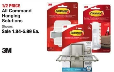 Fred Meyer Black Friday: Entire Stock 3M Command Hanging Solutions for $1.84 - $5.99