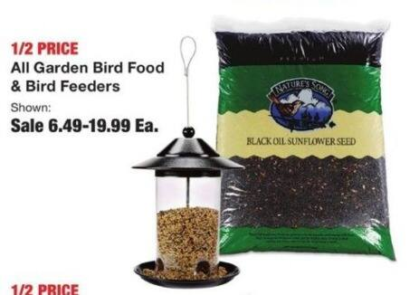 Fred Meyer Black Friday: Entire Stock Garden Bird Food & Bird Feeders for $6.49 - $19.99