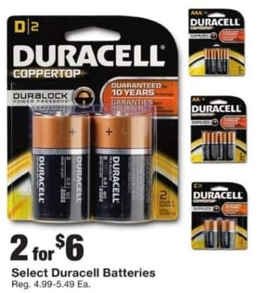 Fred Meyer Black Friday: (2) Select Duracell Batteries for $6.00