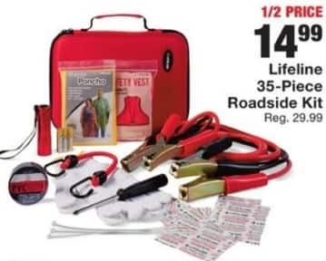 Fred Meyer Black Friday: Lifeline 35-Piece Roadside Kit for $14.99