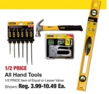 Fred Meyer Black Friday: Entire Stock Hand Tools for $3.99 - $10.49