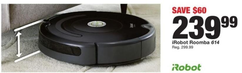 Fred Meyer Black Friday: iRobot Roomba 614 for $239.99