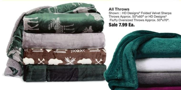 Fred Meyer Black Friday: Entire Stock Throws - 60% Off