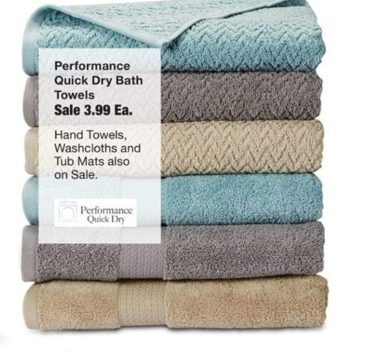 Fred Meyer Black Friday: Performance Quick Dry Bath Towels for $3.99
