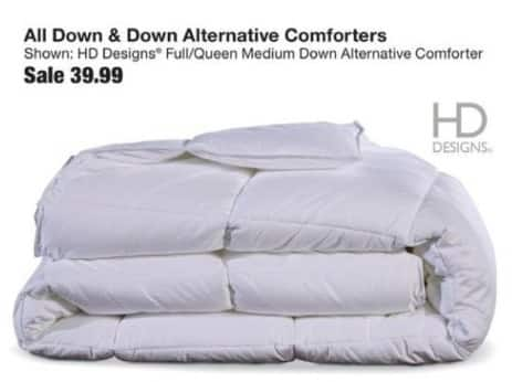 Fred Meyer Black Friday: Entire Stock HD Designs Down & Down Alternative Comforters for $39.99