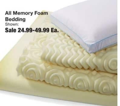 Fred Meyer Black Friday: Entire Stock Memory Foam Bedding for $24.99 - $49.99