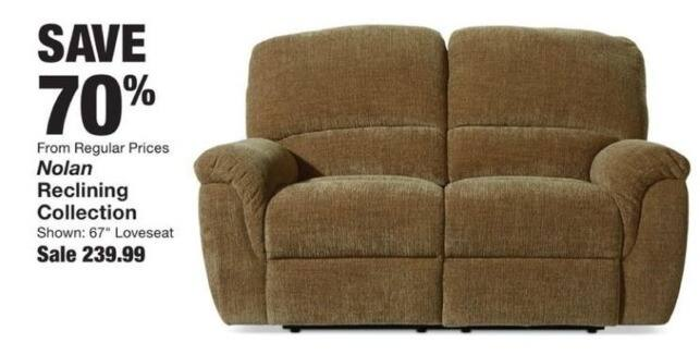 "Fred Meyer Black Friday: Nolan 67"" Reclining Loveseat for $239.99"