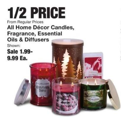 Fred Meyer Black Friday: Entire Stock: Home Decor Candles, Fragrance, Essential Oils and More for $1.99 - $9.99