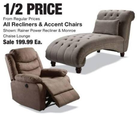 Fred Meyer Black Friday: Entire Stock Recliners or Accent Chairs for $199.99