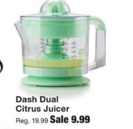Fred Meyer Black Friday: Dash Dual Citrus Juicer for $9.99