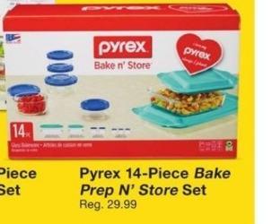 Fred Meyer Black Friday: Pyrex 14-Piece Bake Prep N' Store Set for $14.99
