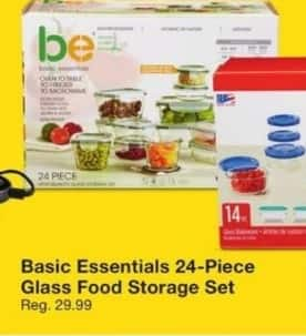 Fred Meyer Black Friday: Basic Essentials 24-Piece Glass Food Storage Set for $14.99