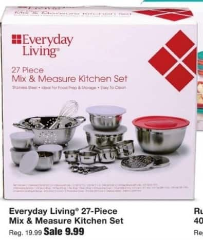 Fred Meyer Black Friday: Everyday Living 27-Piece Mix & Measure Kitchen Set for $9.99