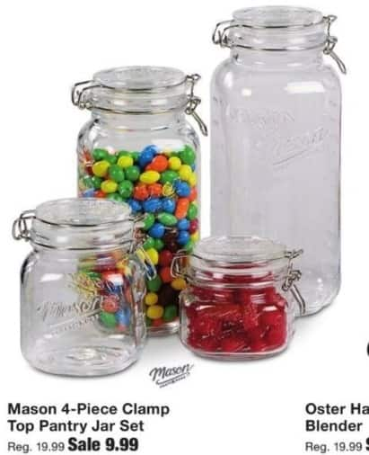 Fred Meyer Black Friday: Mason 4-Piece Clamp Top Pantry Jar Set for $9.99