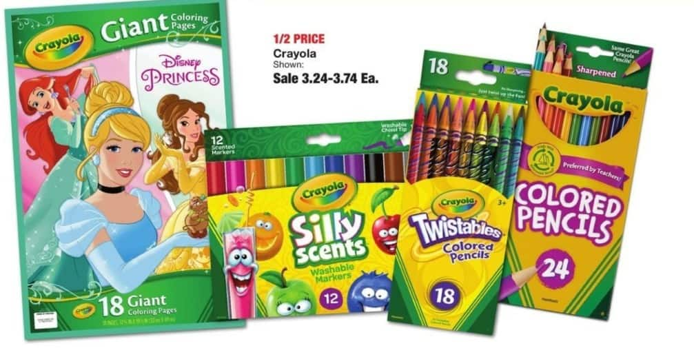 Fred Meyer Black Friday: Select Crayola Products for $3.24 - $3.74