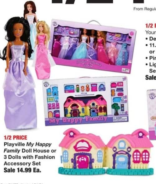 Fred Meyer Black Friday: Playville My Happy Family Doll House for $14.99