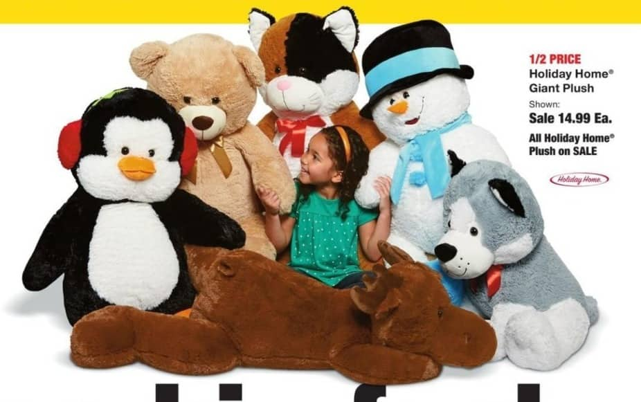 Fred Meyer Black Friday: Holiday Home Giant Plush for $14.99