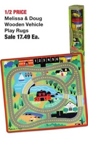 Fred Meyer Black Friday: Melissa & Doug Wooden Vehicle Play Rugs for $17.49