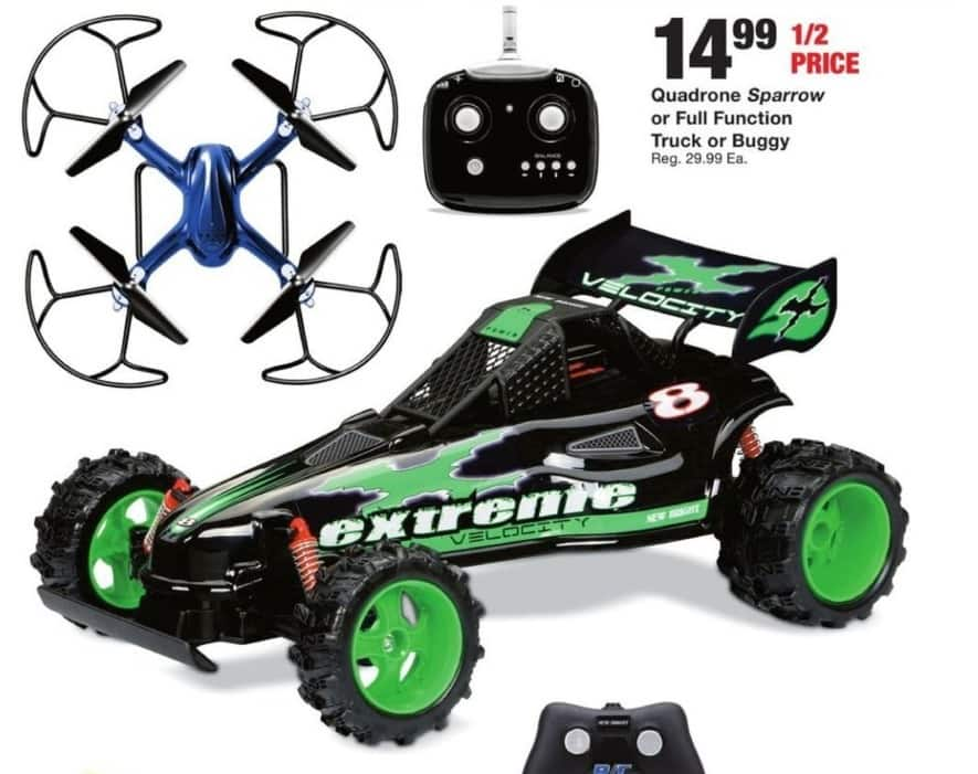 Fred Meyer Black Friday: Select Toys: Quadrone Sparrow, Full Function Truck and More for $14.99